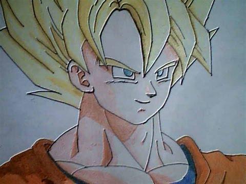 Goku Ssj Dios Para Dibujar A Lapiz Facil Imagui