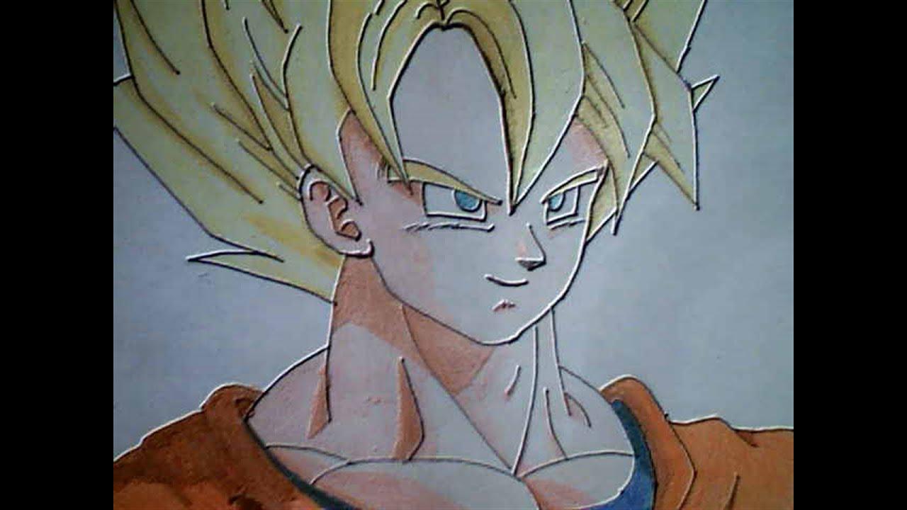 Como dibujar a Goku SSJ 1  YouTube