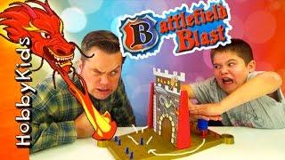 Battlefield BLAST Medieval Strategy ATTACK Game! Dragons Gummy Bear Power Rangers HobbyKidsTV