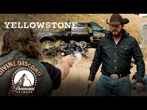 Ranch Hands \u0026 Bikers' Brawl | Yellowstone | Paramount Network