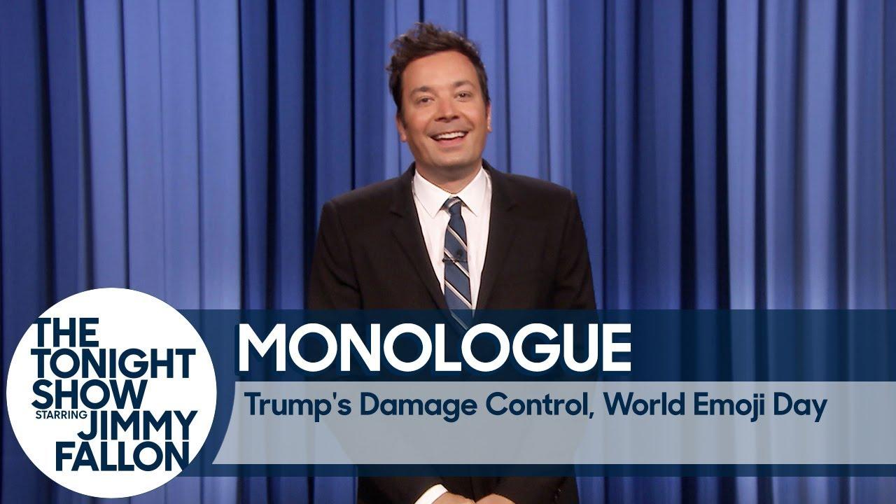 Trump's Damage Control, World Emoji Day - Monologue