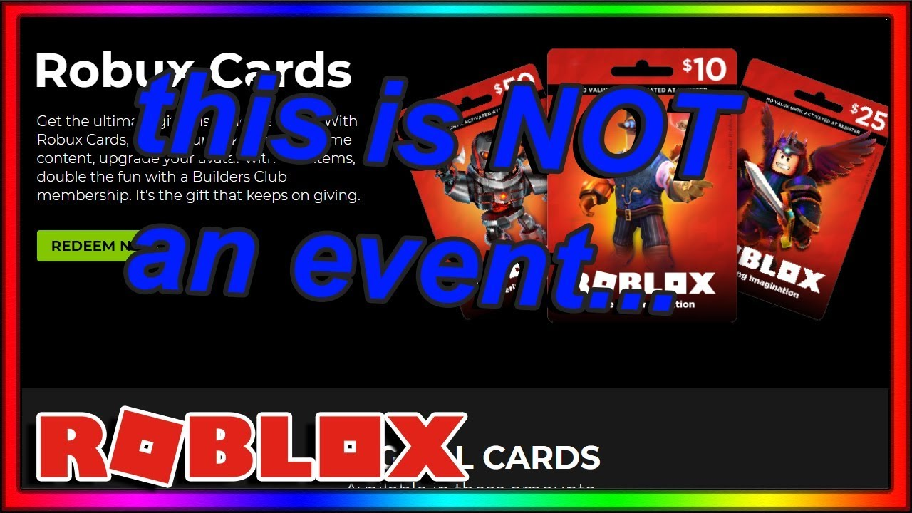 Builders Club Memebrship Gift Card Roblox Roblox S New Event Is Literally Just An Ad Youtube