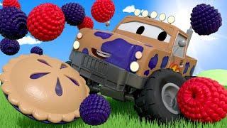 Автомойка Эвакуатора Тома - Конкурс по поеданию пирогов - Автомобильный Город 💧 детский мультфильм