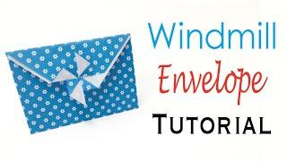 Easy☺︎ Origami Paper Windmill Blade(Pinwheel Sail) Envelope✨ - Origami Kawaii〔#132〕
