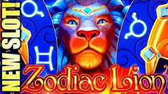 ★NEW SLOT! CAN'T LEAVE THIS MACHINE!!★ ZODIAC LION 🦁 Slot Machine Bonus (IGT)