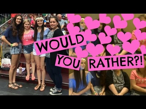 One Direction Would You Rather (w/ Elena, Julia, & Kinsey!)
