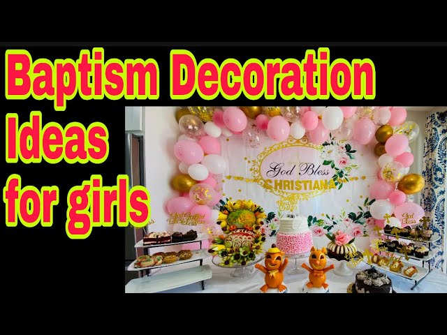 Welcome Sign Baptism Girl, Baptism Decorations