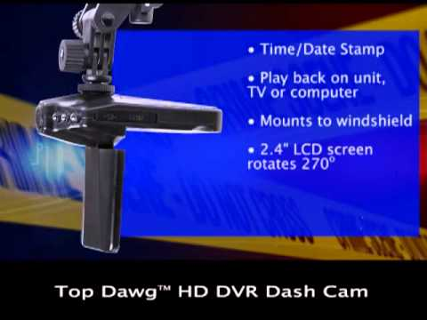 Top Dawg DVR Dash Cam TDCAM01 Product Video