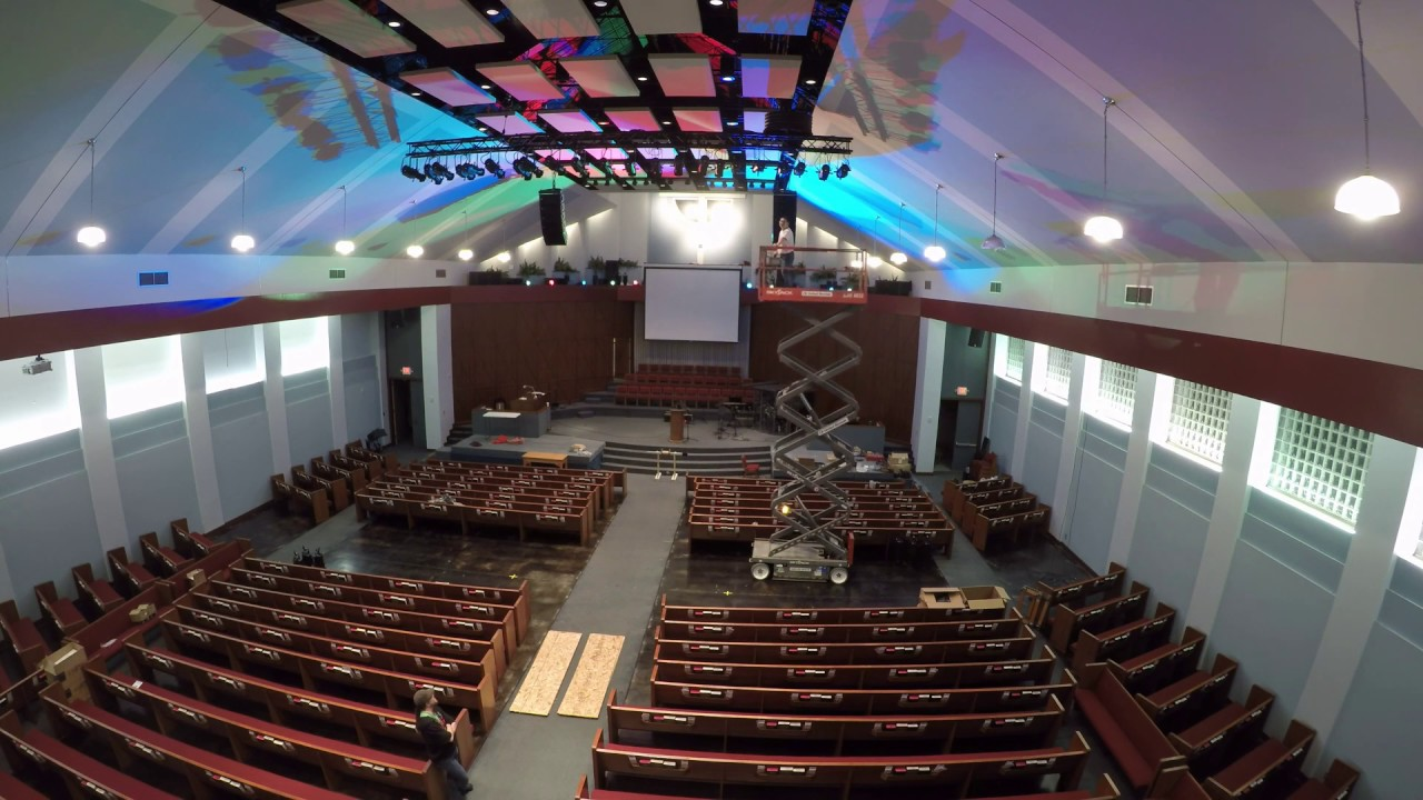 LED Lighting install by Ving Media at Houston Chinese Church (Preview)