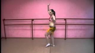 Урок танца живота поворот с ударом бедра