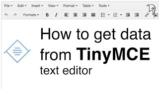 How to get data from TinyMCE text editor | TinyMCE #02