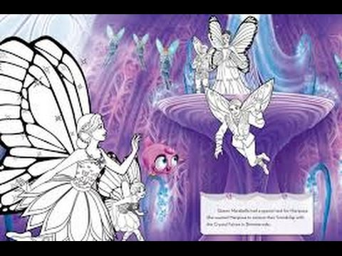BARBIE Coloring Book Kids Pages Barbie Mariposa Fairy Princess