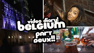Video Diary! BRUSSELS PART DEUX!(I took a trip to Europe! Check out this video with some more highlights of my first time in Belgium! Did you like this video? Give me a thumbs up and subscribe if ..., 2016-08-15T08:32:21.000Z)