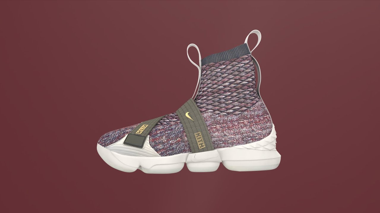 new arrival 3ecb7 db7e1 Nike Lebron James Kith Lifestyle XV Stained Glass Shoe Animation