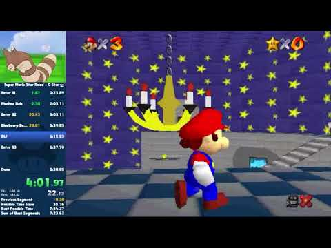 Super Mario Star Road - 0 Star Speedrun in 7:22