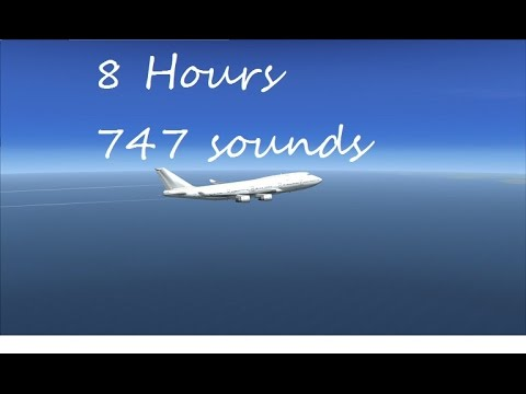 Airplane cabin Boeing 747  full flight 8hrs relaxing sounds