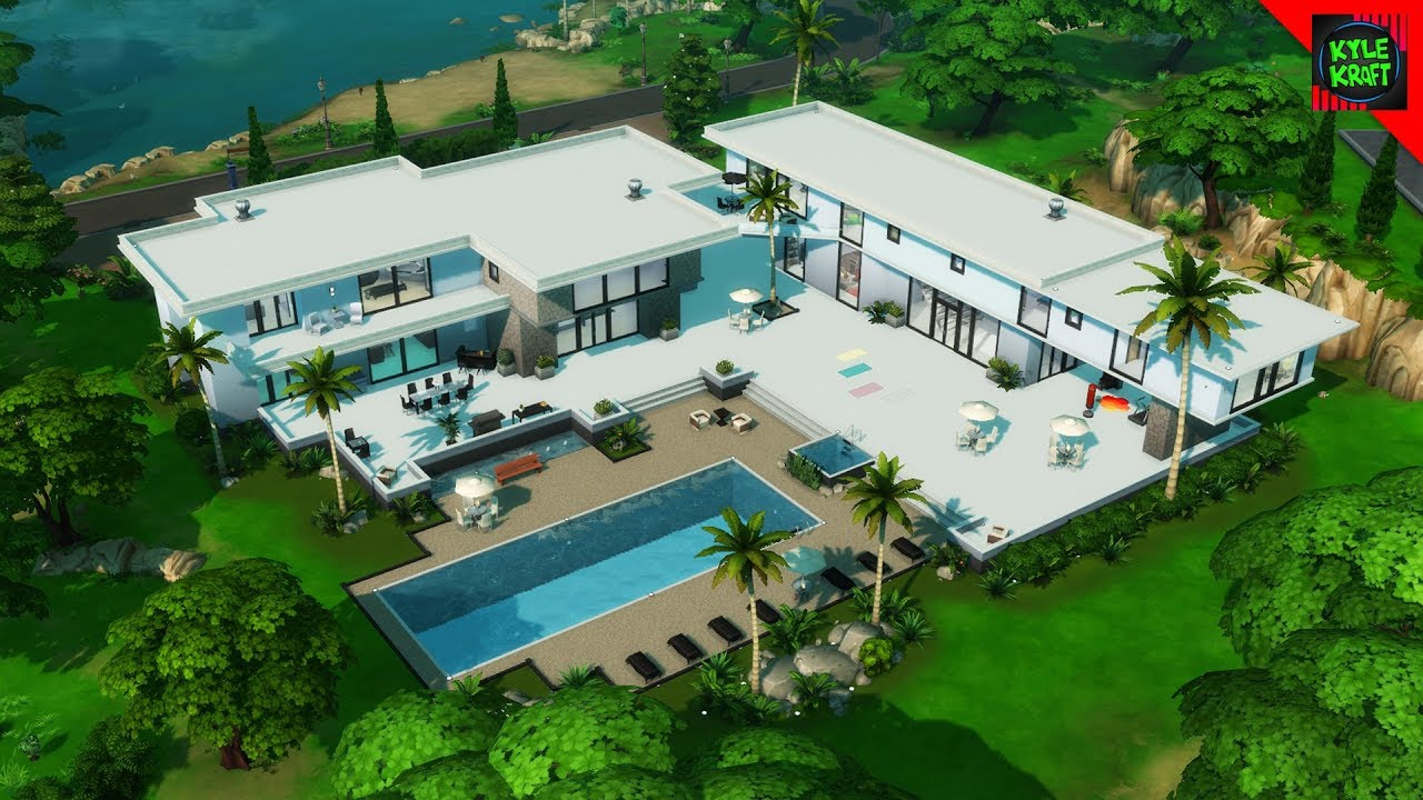 300000 luxury modern mansion sims 4 house building