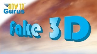 How to Make Fake 3D Text in Adobe Photoshop Elements 2021 2020 2019 2018 15 14 13 12 11 Tutorial