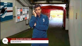 Ubaldo Pantani imita Gigi Buffon - Quelli che il calcio 19/11/2017