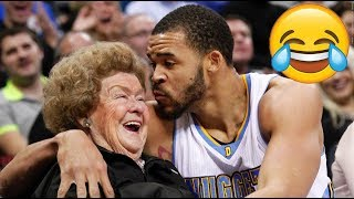NBA PLAYERS KISSING FANS!