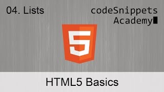 HTML Fundamentals 04. Ordered, Unordered and Dictionary Lists: ol, ul, li, dl, dt, dd