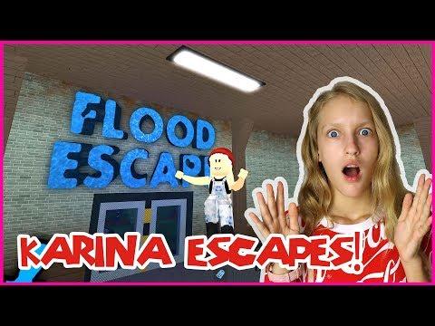 Karina Escapes the FLOOD!