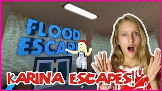 Karina Escapes the FLOOD!