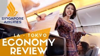 Singapore Airlines Economy Flight Experience & Food Review | Tokyo to Los Angeles