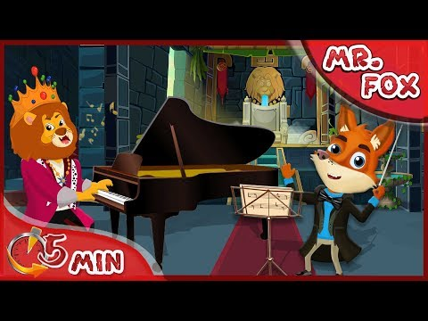Mr Fox ~ Lion king Piano Tiles ~ Mr Fox Funny Cartoon for kids [4K]