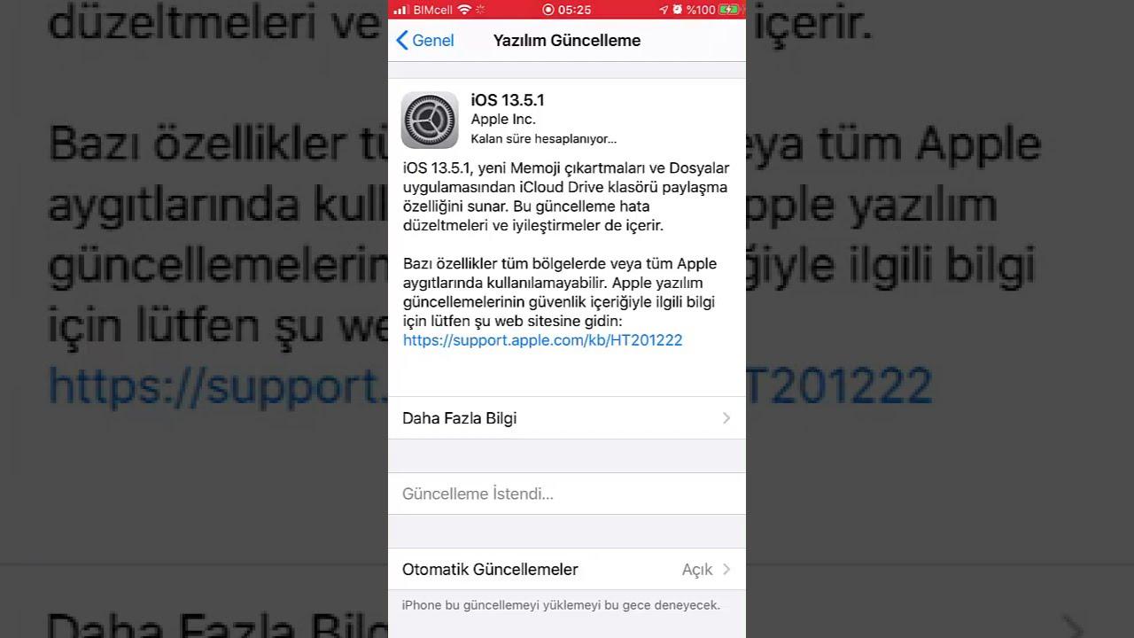 iPhone Yazılım Güncelleme Nasıl Yapılır