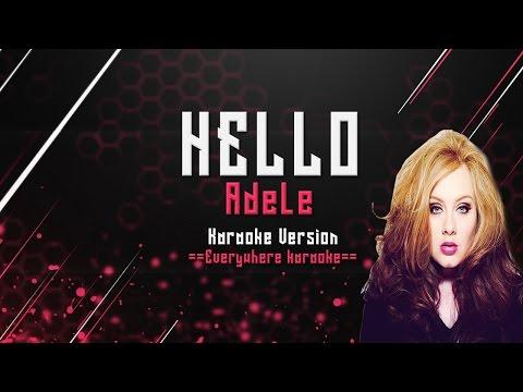 Adele - Hello (karaoke Version)