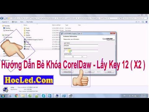 Hướng Dẫn Bẻ Khóa CorelDraw 12 Full Lời Dễ Hiểu Nhất