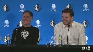 Luka Doncic contract extension press conference