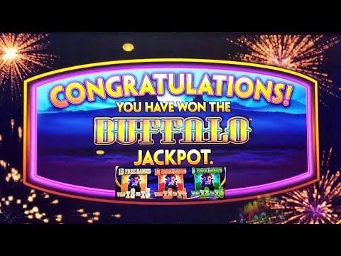Buffalo Deluxe Wonder 4 Slot Machine  JACKPOT & SUPER FREE GAMES WON | GREAT SESSION