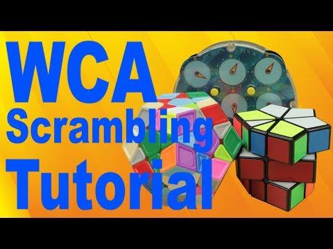 How to Scramble Square-1, Megaminx, and Clock [WCA]
