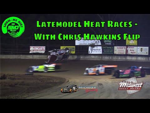Latemodel Heat Races - Chris Hawkins flip Malvern Bank Cash Money - Midway Speedway 10-19-2019
