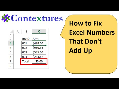 How to Fix Excel Numbers That Don't Add Up