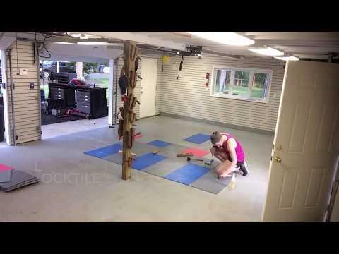 Garage Floor Makeover Using LockTile