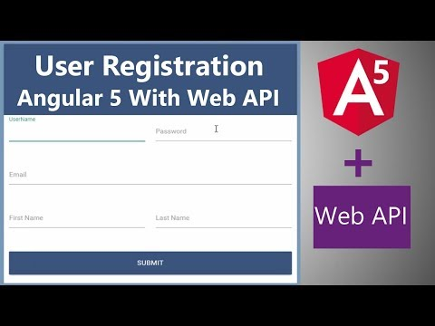 Angular 5 User Registration With Web API