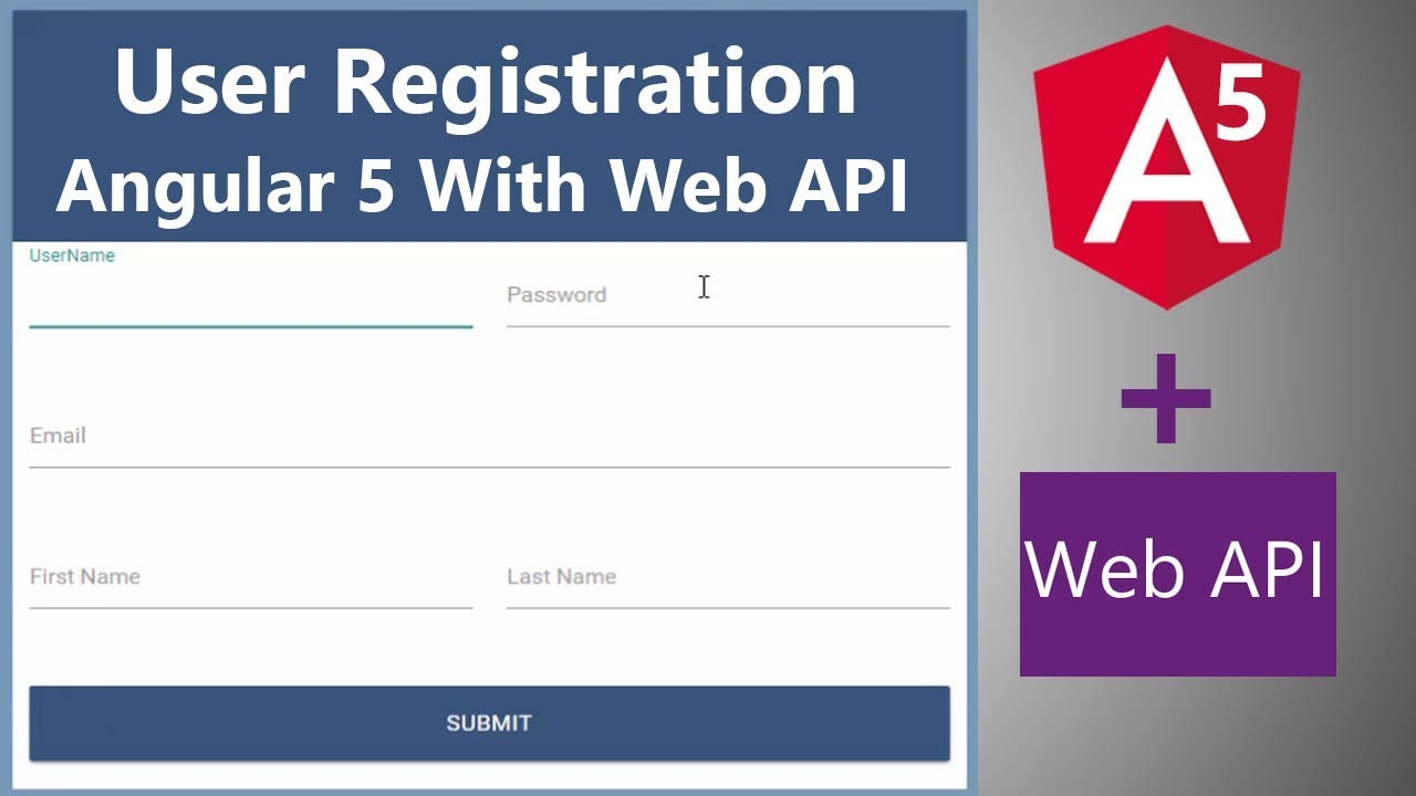 Angular 5 User Registration with Web API