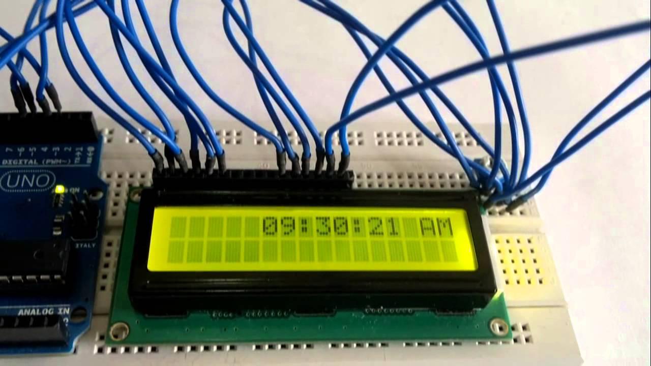LCD Clock code (Arduino)