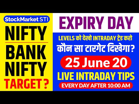 25 june share price targets Nifty Bank Nifty | nifty intraday trading tips | Banknifty forecast tips