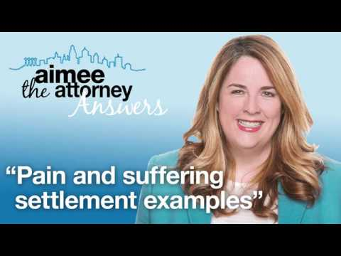 Pain and Suffering Settlement Examples – Personal Injury Lawyer on Why Calculators Are Not Accurate