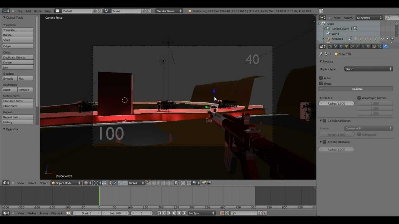 How to make an FPS Game in Blender 2.63 Episode 1 (Overview, Mouse Look, Weapons, Shoot Bullets)