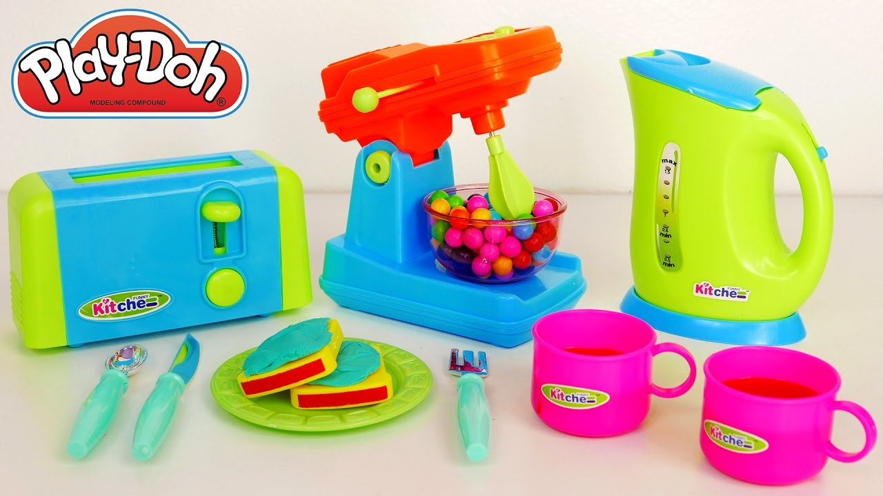 Toaster and Mixer Kitchen Toy Appliances Playset for Kids - YouTube