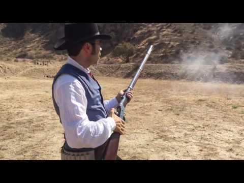 Eric with his .50-70 Remington Rolling Block [1871 (original)]