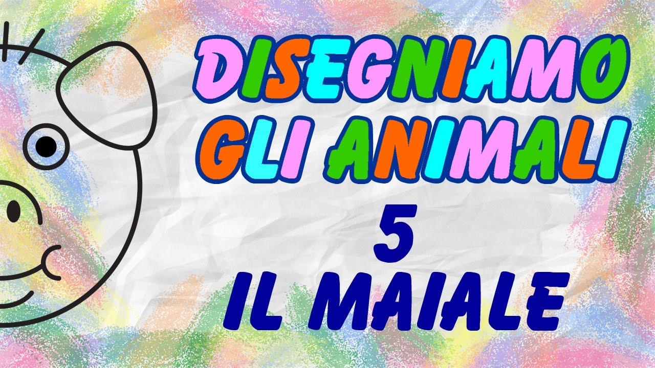 disegniamo il maialino disegni per bambini la televisione dei bambini youtube