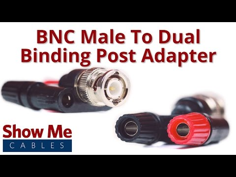 BNC Male to Dual Binding Post Adapter #685