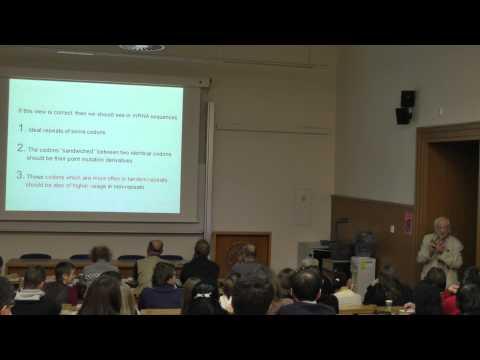 """Biologické čtvrtky ve Viničné; E.N. Trifonov: """"Baby talk"""" of genomic DNA, přednáška"""