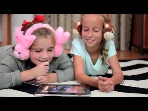 Big Fun for Little Ears - Animalz Retractable, Volume-Limiting Headphones for Kids